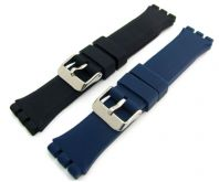 Chunky Silicone Strap 19mm For Swatch Irony Chrono Watch C094